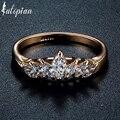 Iutopian rose banhado a ouro elegante coroa anéis de jóias com qualidade superior cz para as mulheres do partido presente da jóia frete grátis
