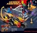 248 unids DC Marvel Super Heroes Spider Man Team-up Building blocks compatible con legoeds Ghost Rider