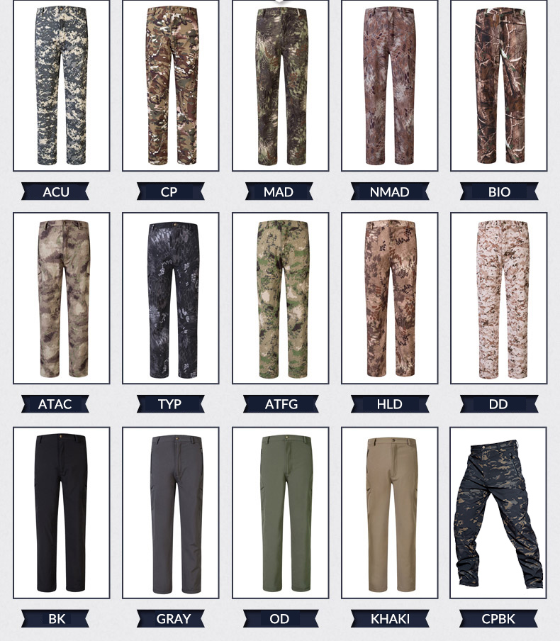MEGE Soft Shell Tactical Camouflage Pants Men Combat Waterproof Military Cargo Warm Fleece Camo Winter Warm Army Modis Trousers 3
