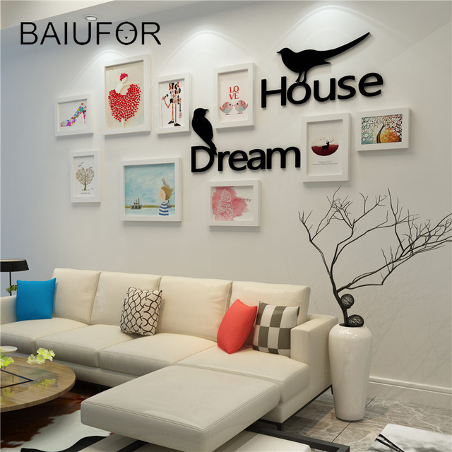 BAIUFOR Dream House Picture DIY Photo Frame Set, Wall Mural Wedding ...