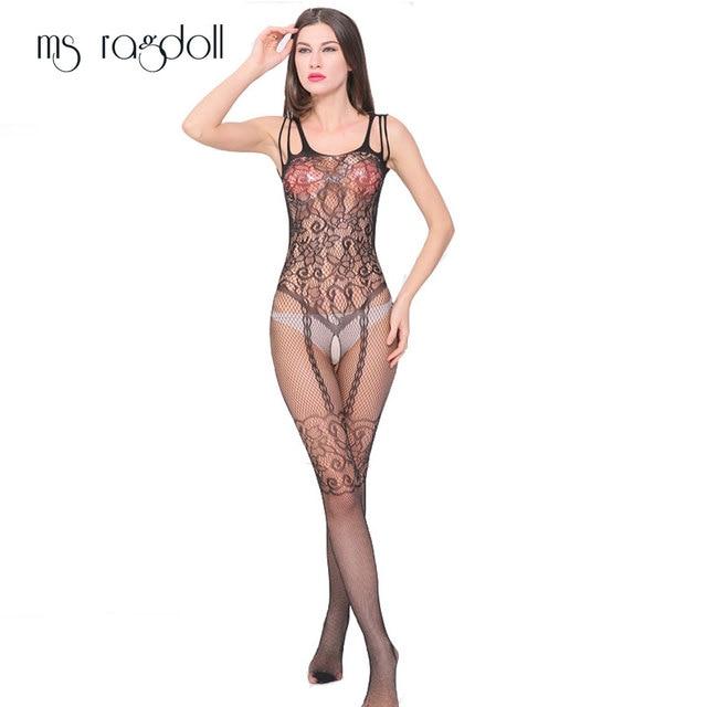 934b9ecf5 Sexy Hot Strap Suit Siamese Mesh Socks Erotic Underwear Pierced Open File  Suspenders Transparent Tight Fishnet Body Socks