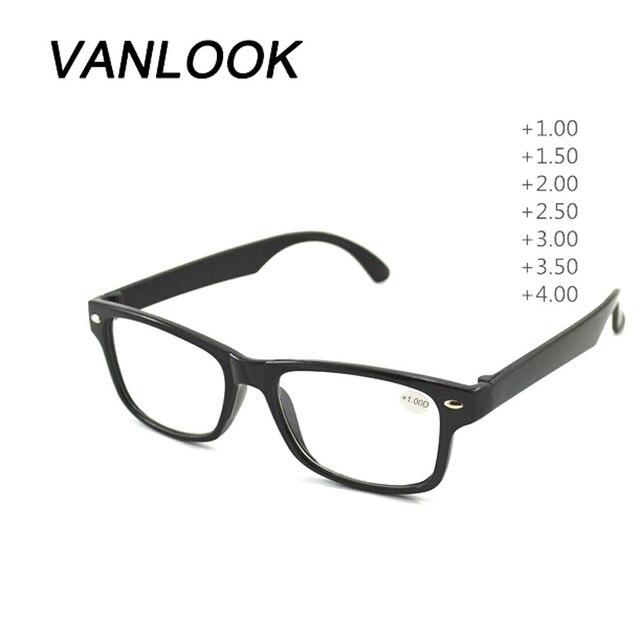 1 piece Barato Óculos De Leitura Mulheres Homens Óculos Oculos de grau  Preto + 1.00 + e9a3584388