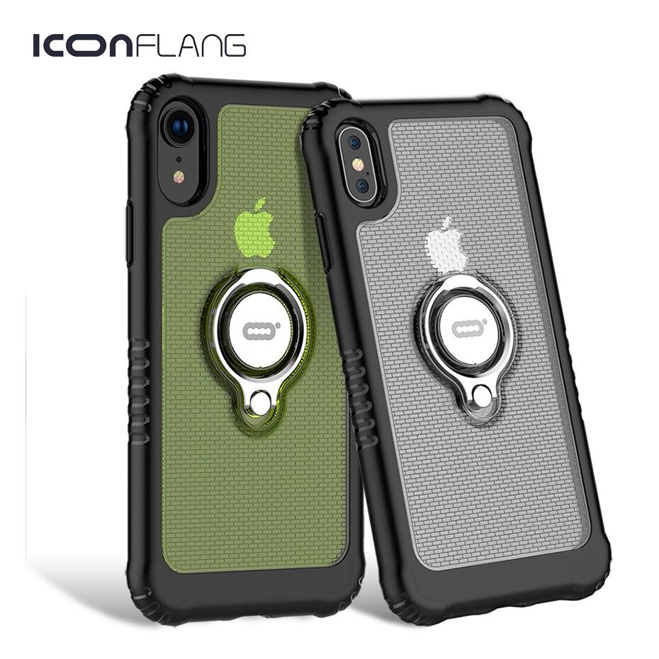 Para o iphone XR XS Max Caso À Prova de Choque Ultra Fina e Transparente Casos de Telefone PC Duro Magnético Para iPhone Capa XS XR coque Funda