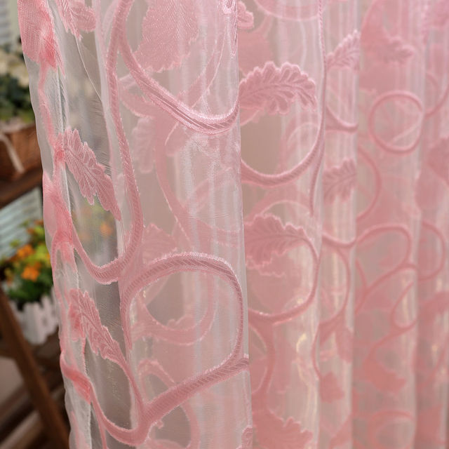 American Style Jacquard Floral Design Window Curtain 6