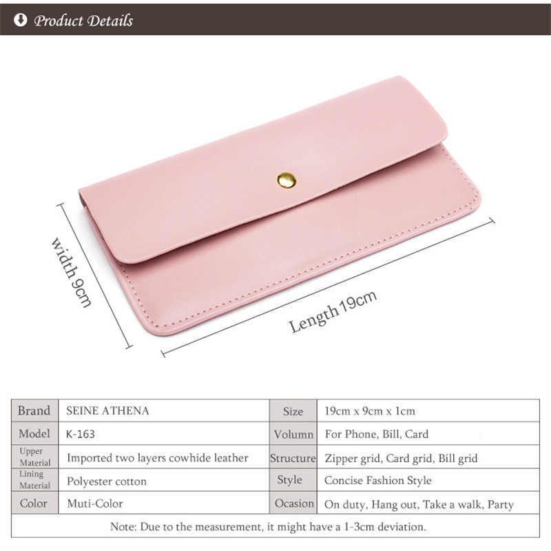 0769bda3772 Women Wallet Leather Purse Ladies Slim Small Mini Money Bag Women  Portomonee Luxury Design Leather Long Clutch Wallet For Female