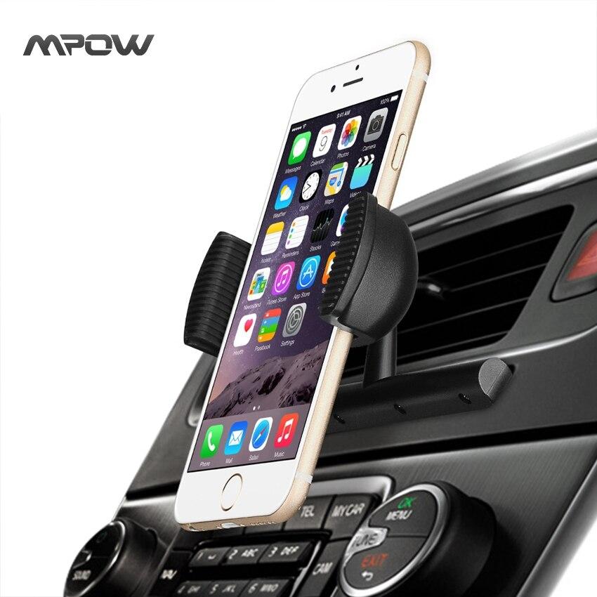 bilder für Mpow MCM9A Universal CD Slot Auto Air Vent Halterung Ständer Halter mit Federhalter 360 Grad-umdrehung für iPhone 7 etc Handys