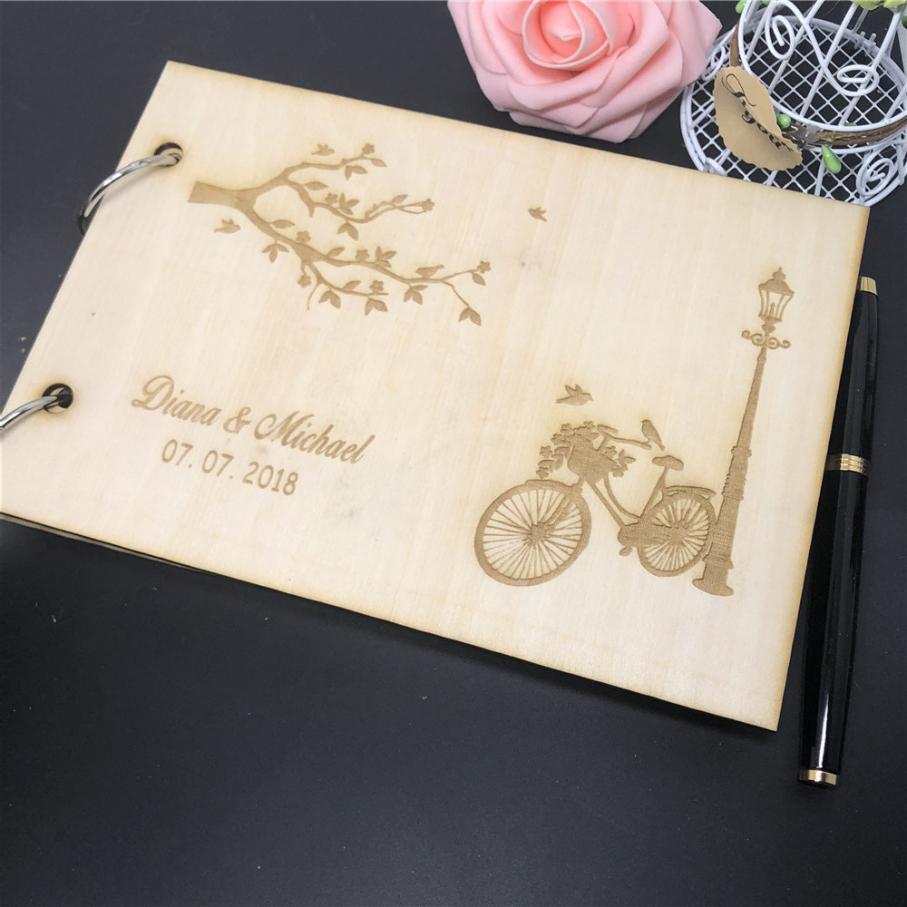 Modern And Fun Guest Book Ideas: Aliexpress.com : Buy Wedding Guestbook Modern Wooden