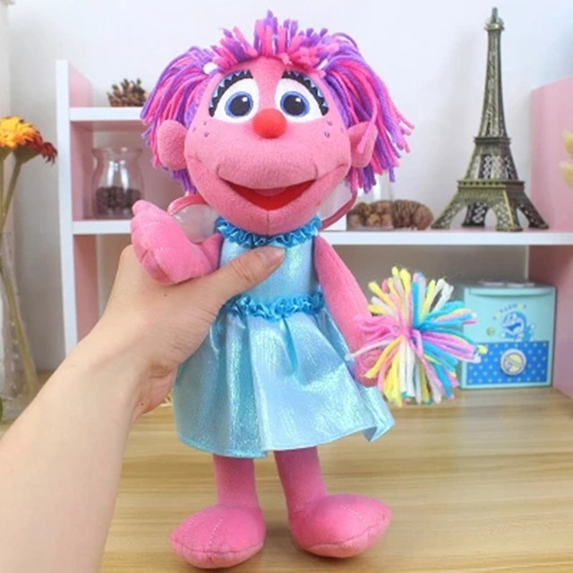 Sesame Street 32CM Elmo Abby Plush Toy Stuffed Toys Birthday Presents For Children Christmas Doll