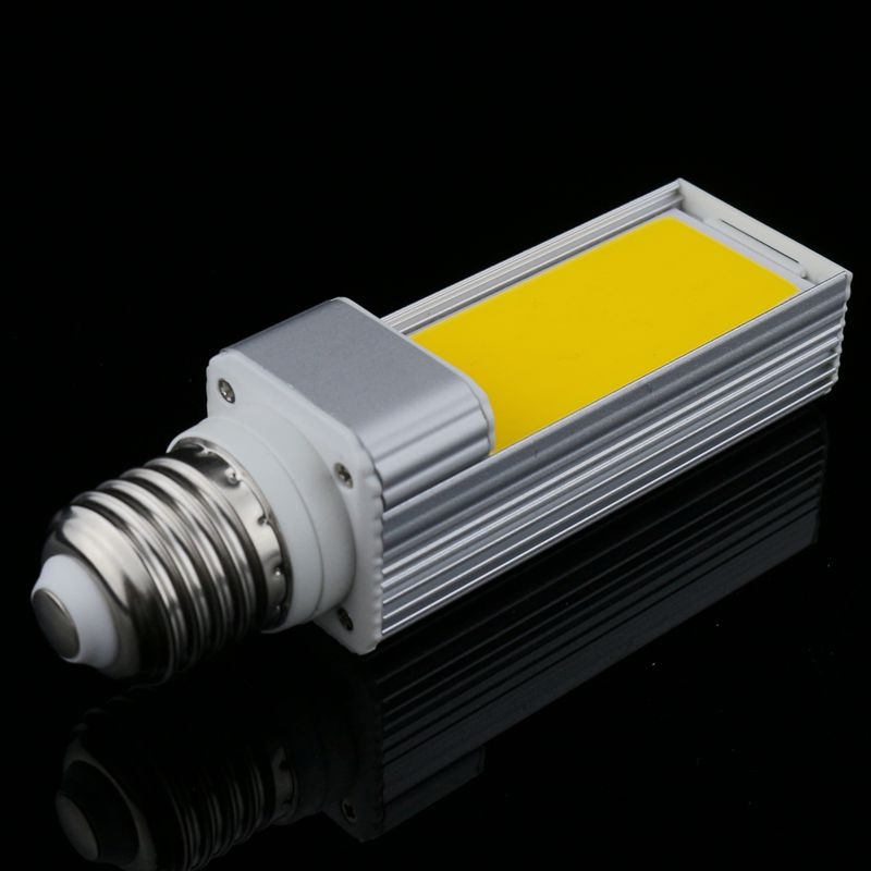 1pcs/lot Horizontal Plug LP Lamp LED Bulb 10W 12W 15W COB LED E27 G24-4 G23 Corn Light Lamp Warm White AC85V-265V Side Lighting