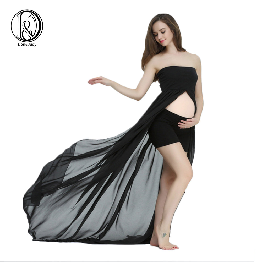 358c4f7817563 D&J High Quality Summer Maternity Photography Props Pregnancy Maternity  Dress for Photo Shoot Strapless Maxi Dresses Vestido