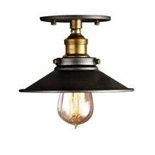 Потолочные светильники, винтажный потолочный светильник, промышленный Ретро стиль, Lamparas De Techo, для спальни, домашнего освещения, E27, лампа, налобный светильник