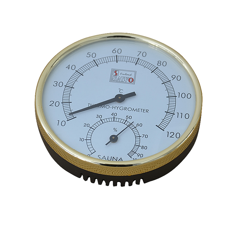 Dry Sauna and Steam Room Accessary Thermometer Hygrometer in Metering Moisture and Temperature sauna accessories stainless steel and plastic temperature and humidity thermometer