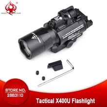 밤 진화 전술 빛 X400U 매우 Softair 권총 손전등 Airsoftsports 빨간 레이저 사냥 램프 무기 총 빛