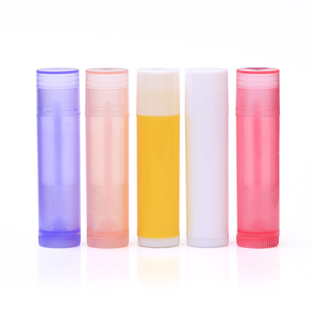 5PCS Lip Balm Empty Bottle Tube 5 Ml Of Lipbalm Plastic Pipes Tubes Colourful Fashion Lipstick Cosmetic Containers Lotion