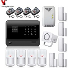 YobangSecurity WiFi Home Alarm System Contact Display Wi-fi GSM Alarm System Dwelling Safety with Gasoline Sensor Door PIR Detector