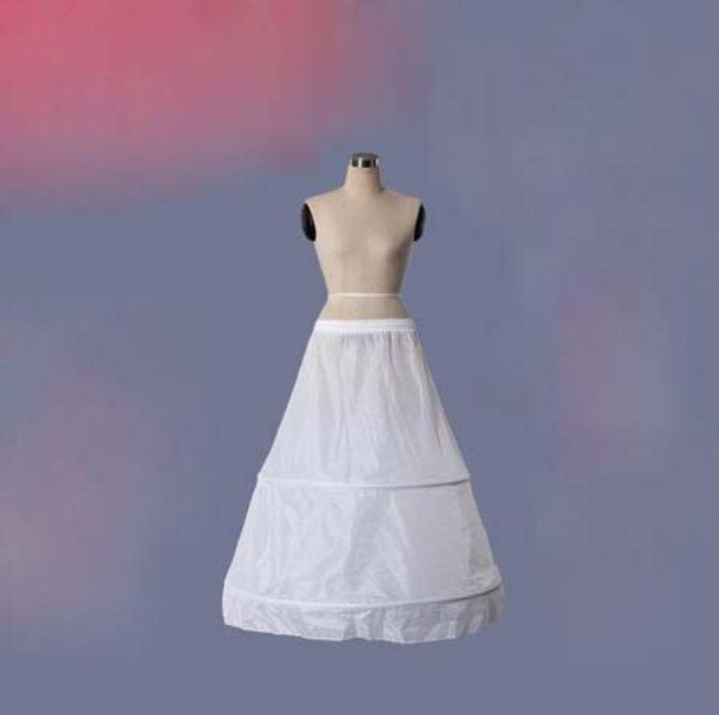 2 Hoops Hochzeit Petticoat Lange Tüll Röcke Frauen Unterrock Für Hochzeit Kleid Schrumpffrei