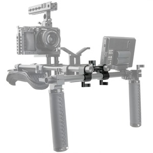 Image 5 - NICEYRIG 15mm DSLR מוט מהדק כפול כדי יחיד 90 תואר Railblock וידאו מצלמת וידאו מצלמה DV/DC כתף תמיכת Rig מערכת