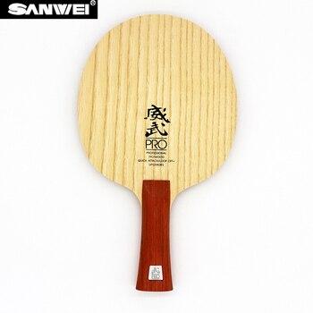 SANWEI V5 פרו טניס שולחן להב מקצועי 7 דיקט quicky התקפה + OFF לולאה + פינג פונג מחבט בת משוט tenis de mesa