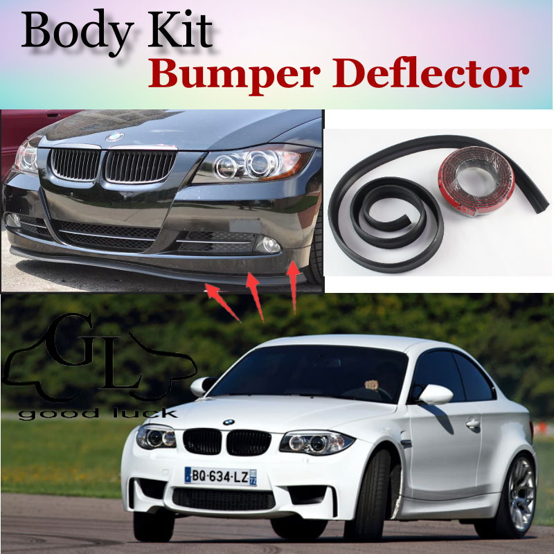 Bumper Lip Lips For <font><b>BMW</b></font> 1 M1 E81 E82 E87 E88 F20 <font><b>F21</b></font> / Top Gear Shop <font><b>Spoiler</b></font> For Car Tuning / TOPGEAR Recommend Body Kit + Strip image