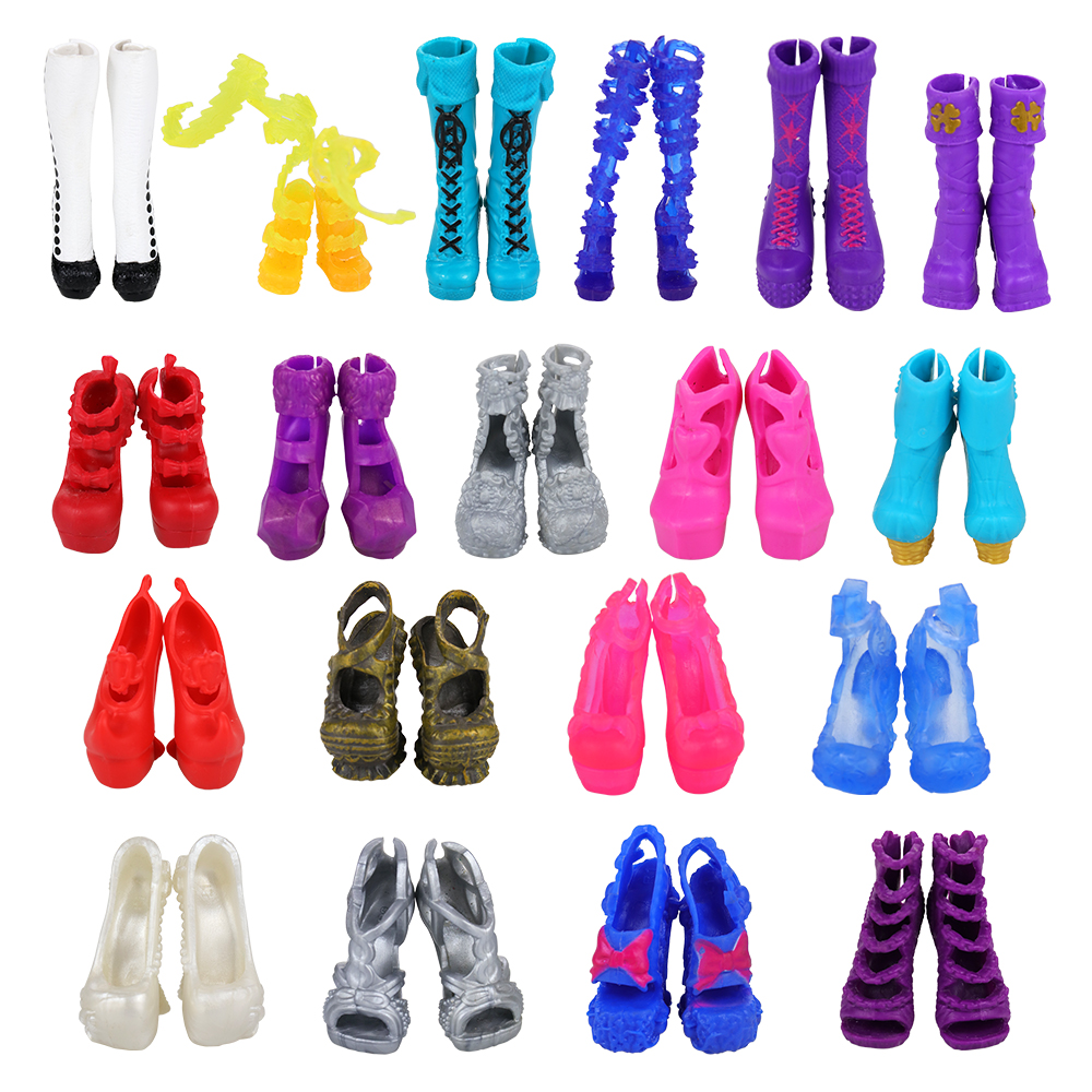 New Fashion 10 Dolls Shoes/lot Random Doll Products High Heel Accessories For Monster HIgh DIY Birthday Kids Toys For Children
