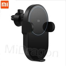 شياو mi سيارة لاسلكية شاحن 20 واط ماكس السيارات الكهربائية قرصة 2.5D الزجاج حلقة مضاءة ل mi 9 (20 واط) mi X 2 S/3 (10 واط) تشى ل Xiao mi