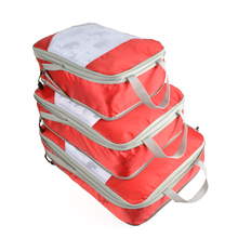 QIUYIN Capacity Of Bags Unisex Clothing Sorting Organize Wholesale Nylon Packing Cube Travel Bag System Durable 3 Pieces Set