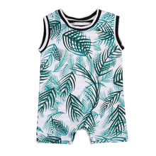 Cool Infant Baby Boys Sleeveless Leaf Cotton Romper Jumpsuit Outfits Sunsuit Clothes Playsuit
