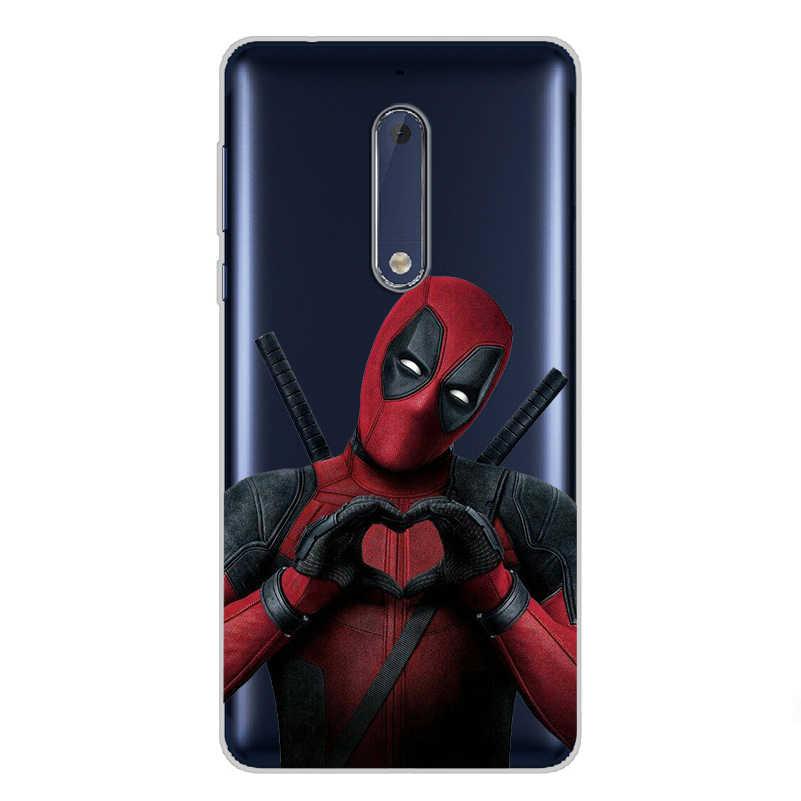 7 ciciber Para Nokia 8 7.1 6 6.1 5 5.1 3 3.1 2 2.1 1 Plus PhoneCase Silicone Macio TPU para Nokia X7 X6 X5 X3 Deadpool Bonito Dos Desenhos Animados