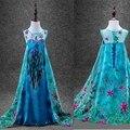Модный дизайн цветок анна Elsa девушки принцесса дети летнее платье ткань ну вечеринку Vestidos младенцы платье детские дети пользовательские платья