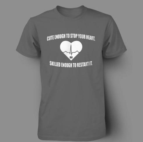 Men's T Shirt RN NURSING CUTE NURSE FUNNY GIFT DOCTOR Summer Slim ...