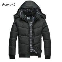 Dimusi 2017 jackket Для мужчин зимняя куртка большой Размеры M-4XL Новое поступление Повседневное тонкий хлопок с парки с капюшоном casaco masculino, YA294
