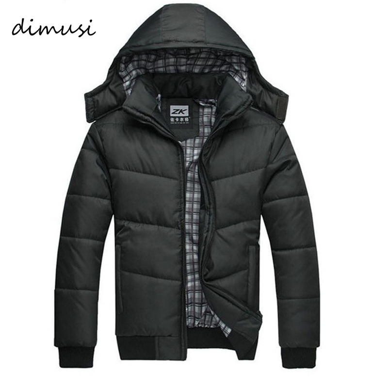 DIMUSI 2018 Jacket Men Winter Jacket Big Size M-4XL New Arrival Casual Slim Cotton With Hooded Parkas Casaco Masculino ,YA294 2016 new arrival men s winter jacket casual slim fit fashion solid hooded man jacket winter warm high quality m 4xl