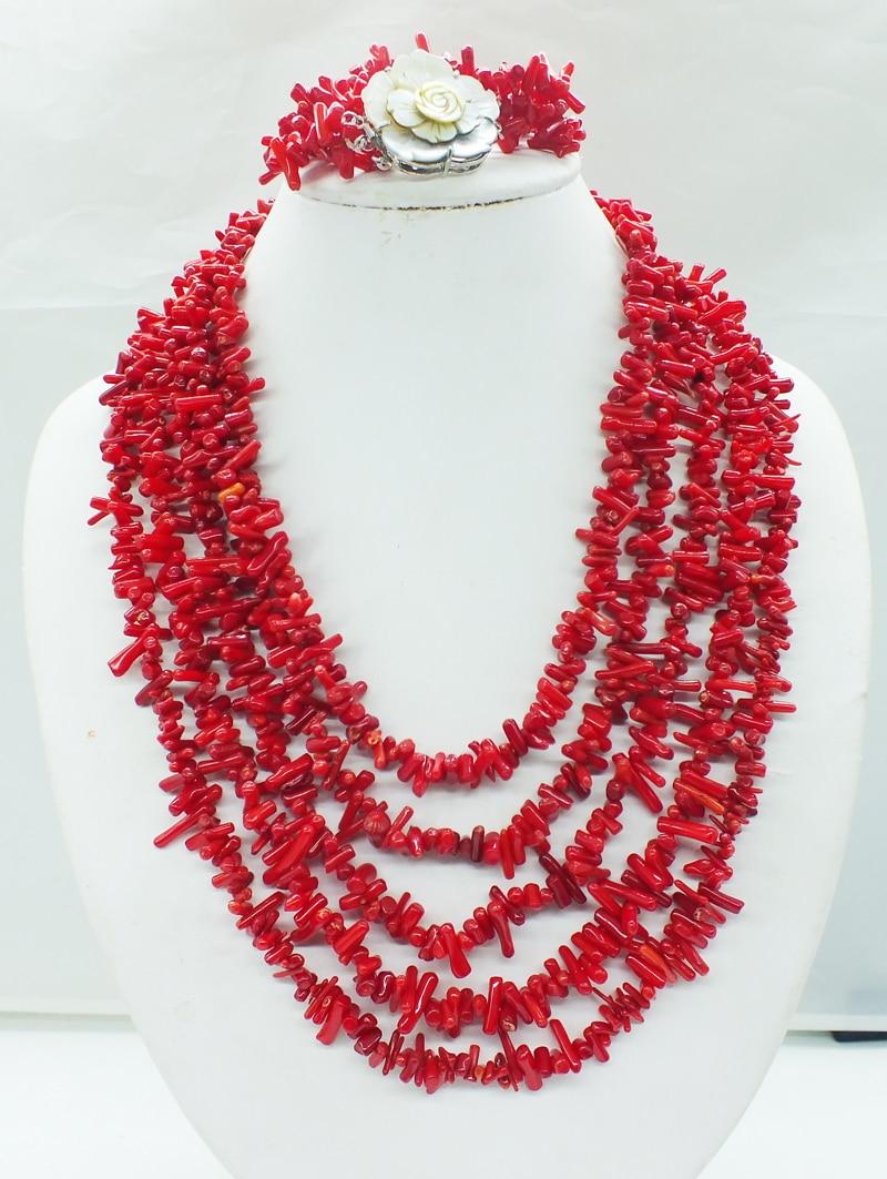 Collier classique en corail rouge. caténaire à la main-in Parures de bijoux from Bijoux et Accessoires    3