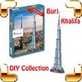 Presente de ano novo Dubai Burj Khalifa torre de construção de quebra-cabeça 3D DIY brinquedo de presente de luxo decoração lembrança brinquedos