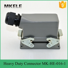 цена на 16 PIN 16A UL Standard Impact Resistance Side Entry 400/500V Heavy Duty Power  Connector Used In Injection Mold Machine