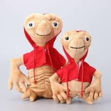 Peluche manteau rouge Extra-terrestre du film, poupées douces en peluche, cadeau pour enfants, 2 tailles