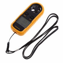 GM816 Mini Digital Anemometer Wind Speed Temperature Tester w/LCD Backlight digital anemometer wind speed air volume humidity measurement tester backlight display support usb real time