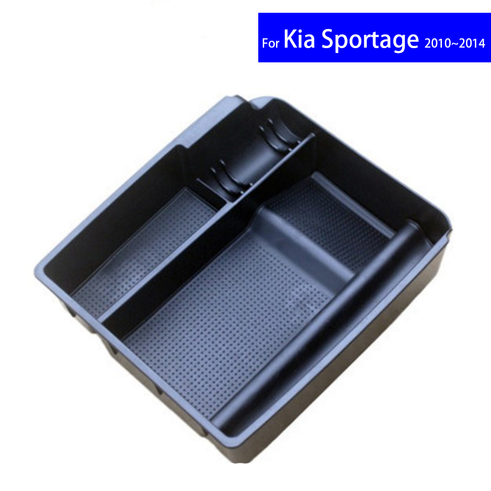 Car Center Console Armrest Storage Secondary Box For For Kia K2 K5 KX3 KX5 KX7 Sportage 2010 2011 2012 2013 2014 2015 2016 2017