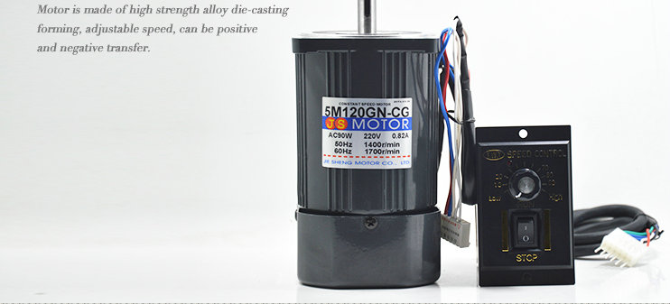 AC 220V 120W AC variable speed motor large torque motor 1400/2800 high speed single - phase motor