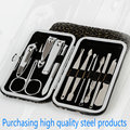 Stone Pattern Case+12pcs/set Nail Clipper Kit Nail Care Set Pedicure Scissor Tweezer Knife Ear pick Utility Manicure Set Tools