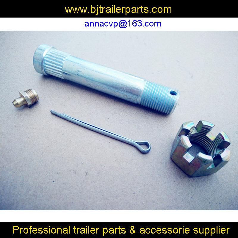 """3/4"""" Greasable Bolts with Grease Nipples, Nyloc Nuts and Split Pins,tandem rocker roller spring trailer parts"""