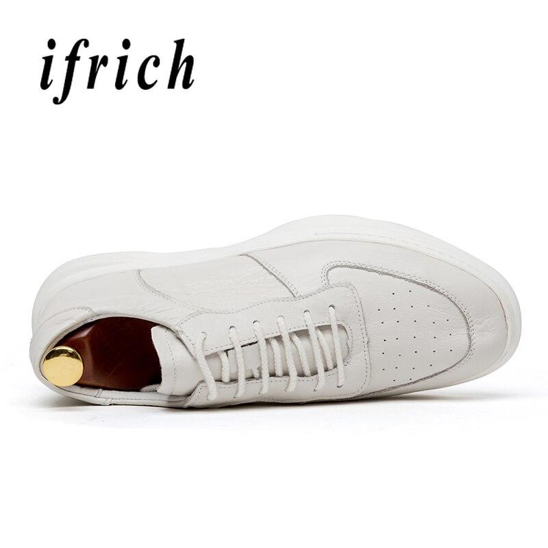 Sapatos Peso Leve Casuais black Homens Flats Couro Natural Beige Dos Sapatilhas De Masculinos Homem Marca Calçados Originais White Wearable Das Genuíno q7Pfx5w