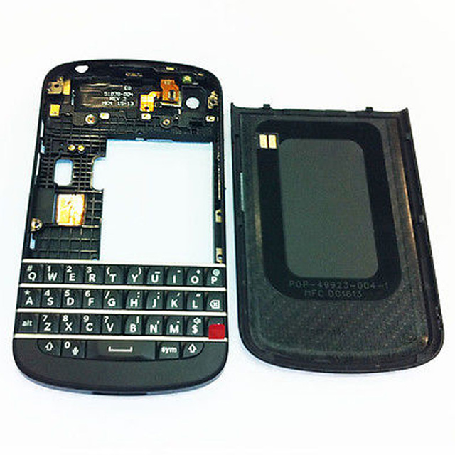 New Black Full Housing Case Cover Replacement Parts for Blackberry Q10