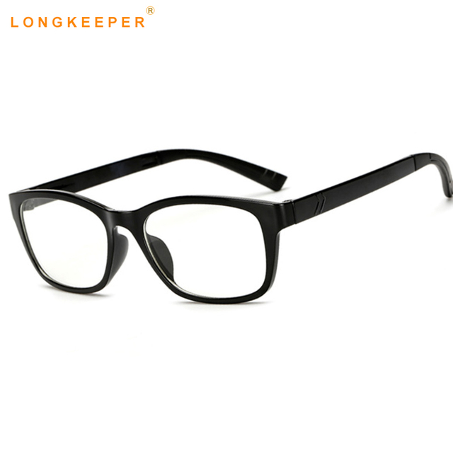 eabcab46621b Rectangle Eyeglasses Optical Frames Clear Lens Black Glasses Leopard Square  Eyewear Spectacle Frames For Women Men LongKeeper