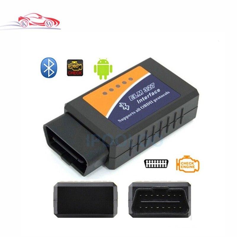 Hotsale ELM 327 Bluetooth V2.1 OBD II ODB2 Voiture De Diagnostic Interface Scanner Travaux Sur Android Couple