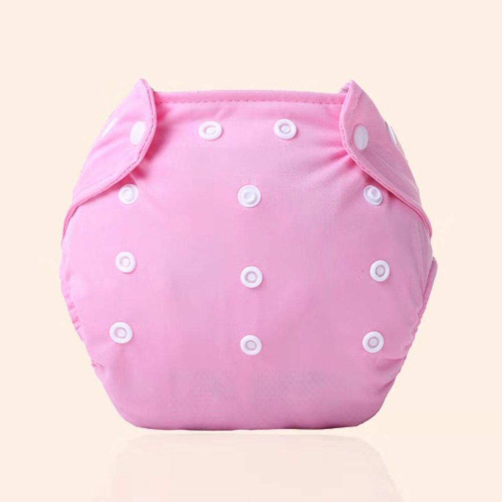 Детские тканевые подгузники детские подгузники хлопковые многоразовые подгузники с карманами моющиеся регулируемые детские подгузники - Цвет: pink
