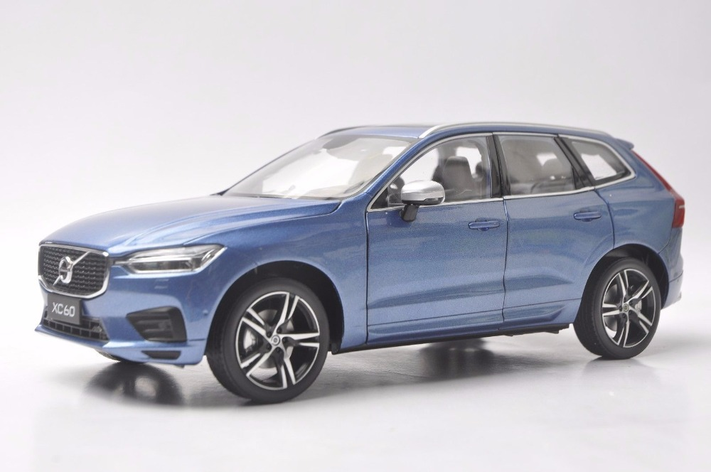 цена на 1:18 Diecast Model for Volvo XC60 XC 2018 Blue SUV Alloy Toy Car Miniature Collection Gifts XC 60