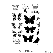 AZSG Beautiful butterfly Clear Stamps For DIY Scrapbooking/Card Making/Album Decorative Silicon Stamp Crafts
