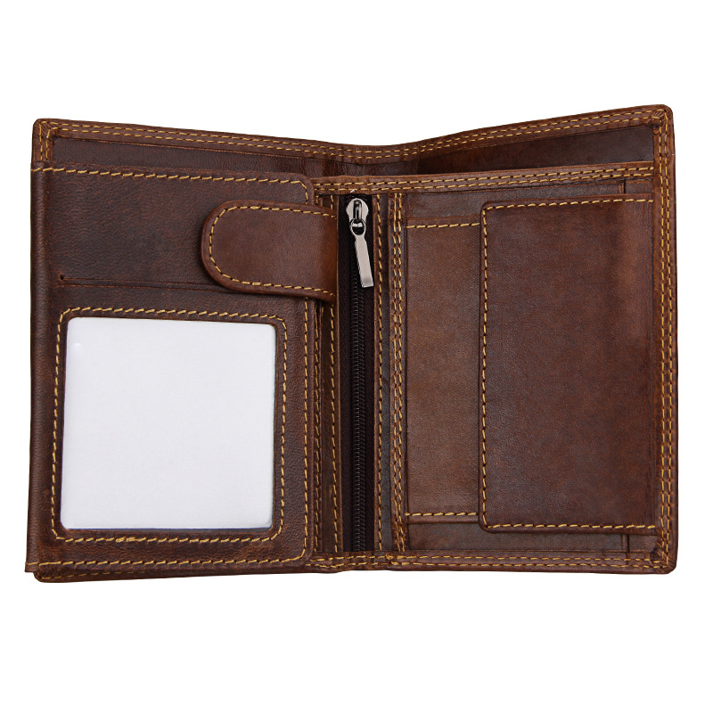 Hot sales men's wallets luxury fashion leather card purse Men's purses made of genuine leather business cards holder coin pouch never leather badge holder business card holder neck lanyards for id cards waterproof antimagnetic card sets school supplies