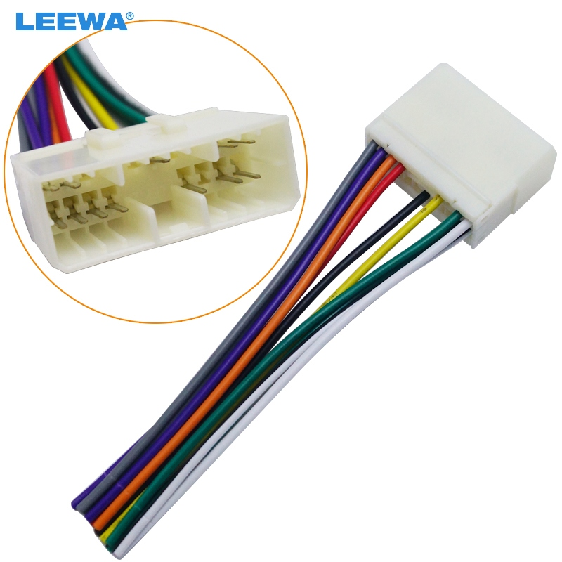 US $2.09 30% OFF|LEEWA Car Audio Radio Stereo Wiring Harness Adapter on